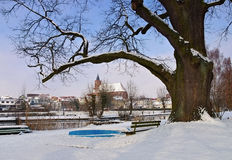 Church Marienkirche von Beeskow dans Brandebourg Images libres de droits