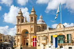 Church in Marsaxlokk, Malta, Europe Stock Photography