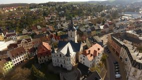 Church Martin Meerane in Germany aerial view Stock Photo