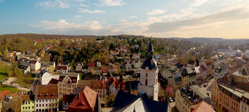 Church Martin Meerane in Germany aerial view Stock Image