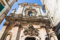 Church of Martina Franca. Puglia. Italy. Perspective of the St. Domenico church. Martina Franca. Puglia. Italy royalty free stock image