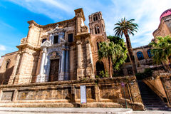 The church Martorana, in Palermo, Italy. The church of Santa Maria dell`Ammiraglio, commonly called the Martorana, in Palermo, Italy stock images