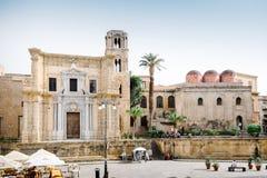 Church of Martorana and San Cataldo. Palermo, Italy Royalty Free Stock Photos