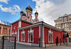 Church of the Martyr George the Victorious in Yendovo. Moscow. Russia. Church of the Martyr George the Victorious in Yendovo on Baltschug island. Moscow. Russia Stock Photo