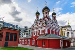 Church of the Martyr George the Victorious in Yendovo. Moscow. Russia. Church of the Martyr George the Victorious in Yendovo on Baltschug island. Moscow. Russia Stock Photography