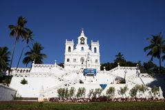 Church of Mary Immaculate Conception. Panaji, North Goa, India Royalty Free Stock Photography