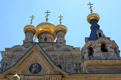 Church of Mary Magdalene, Jerusalem. Russian Orthodox church of Mary Magdalene at the Mount of Olives in Jerusalem, Israel stock images
