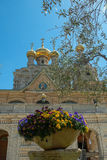 Church of Mary Magdalene, Jerusalem, Israel. The Church of Mary Magdalene is a Russian Orthodox church located on the Mount of Olives, near the Garden of royalty free stock photos