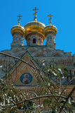 Church of Mary Magdalene, Jerusalem, Israel. The Church of Mary Magdalene is a Russian Orthodox church located on the Mount of Olives, near the Garden of stock images