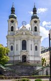 Church of Mary Magdalene, Karlovy Vary, Czech Republic stock images