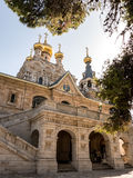 Church of Mary Magdalene. Russian Orthodox Church of Mary Magdalene on the Mount of Olives in East Jerusalem in Israel Royalty Free Stock Photos