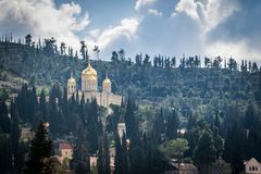 Church of Mary Magdalene. Among trees Stock Image