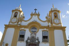Church Matriz de Santo Antonio - Tiradentes Immagine Stock