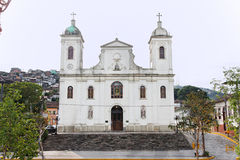 Church Matriz DE Sao Luis doet Paraitinga Royalty-vrije Stock Foto