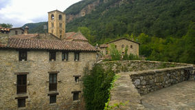 The church and medieval houses of Beget Royalty Free Stock Photography