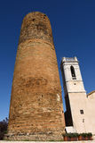 Church and Medieval tower of village of Cruïlles, Stock Photos