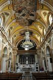 Church in the medieval village of Agnone. Interior view of the Church of St. Anthony in the historic center of the Agnone village. Molise region, central south stock photos