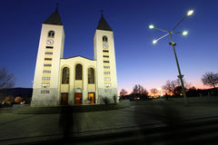 Church in Medjugorje. Medjugorje has become well known in Bosnia-Hercegovina, and the world, because of six young people who claim to have seen visions of the stock photo