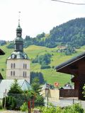 The church in Megeve, France Stock Photo