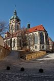 Church in Melnik, Czech Republik Stock Photos