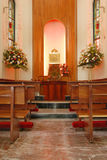 Church Memorial. A small room in an old church where people come to remember Royalty Free Stock Photo