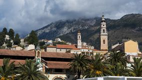 Church in Menton. Royalty Free Stock Photography
