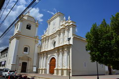 The church of Merced in Leon, Nicaragua royalty free stock photos