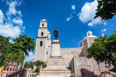 Church in Merida, Mexico. Jesuit church in heart of Merida, Mexico stock photography