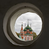 The church of Michael the Archangel closeup of a sunny day in july. Yaroslavl, Golden ring of Russia Stock Photo