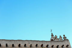 Church in the middle east against a blue sky Royalty Free Stock Photography
