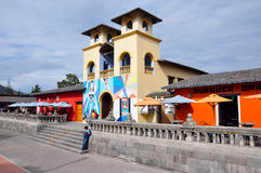 Church at the middle of the world or Latitude Zero, Ecuador Stock Images