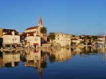 Church in Milna on Brac island in the Adriatic sea of Croatia Royalty Free Stock Images