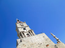 Church and minaret Royalty Free Stock Image