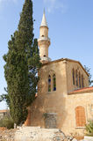 Church with minaret in Cyprus Royalty Free Stock Photography