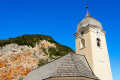 Church and Mine of Predil - Friuli Italy Stock Photo