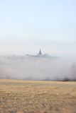 Church in the mist Royalty Free Stock Photography