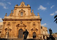 Church of Modica in Sicily (Italy) Royalty Free Stock Photography