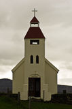 Church at Modrudalur farm in central Iceland Royalty Free Stock Photography