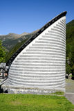 Church of Mogno on Maggia velley, Switzerland Stock Photo