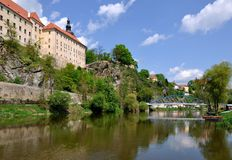 Church and monastery. In the South Bohemian royalty free stock images