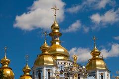 Church monastery building St. Michael`s Mikhailovsky Cathedr royalty free stock photos