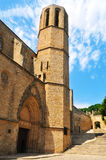Church of Monastery of Pedralbes in Barcelona Stock Photography