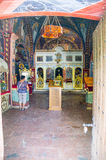 In the church in Monastery Rezevici, Montenegro Royalty Free Stock Photography