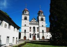 Church of Monastery Rheinau in Switzerland Stock Photos