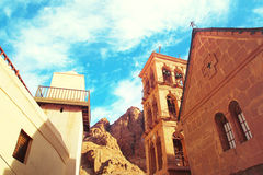 Church and monastery in Saint Catherine Egypt, Sinai. Church and monastery in Saint Catherine next to Moses` mountain Egypt, Sinai. Famous place for Stock Images