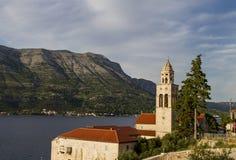 Church and Monastery Sveti Nikola in Korcula Stock Images