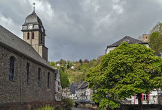 Church in Monschau, Germany Stock Images