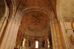 Church of Montagne in Gironde Stock Photography