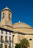 Church of Montefrío. View of the Church in Granada Montefrio Royalty Free Stock Images