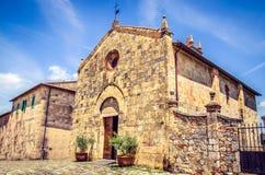 Church in Monteriggioni (Siena - Tuscany) Stock Photo
